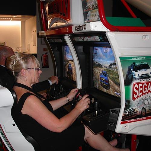 Sega Rally Driving Simulator