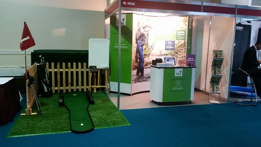 Exhibition Stand Themes : Putting challenge exhibition stand attraction hire leisure hire